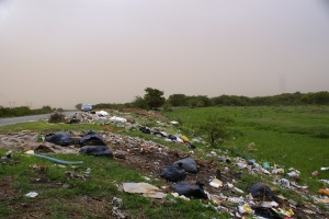 Trash roadside
